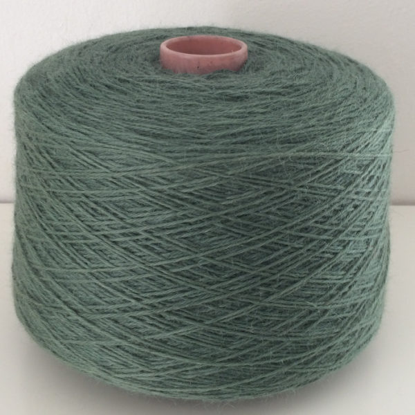 wool yarn green cone