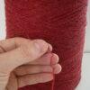 wool yarn red detail